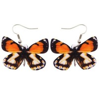 Original Drop Dangle Big Pieridae Butterfly Earrings For Women New Fashion Accessories Acrylic Printing Insect Jewelry