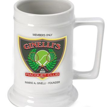 16oz. Ceramic Beer Stein - Racquet Club