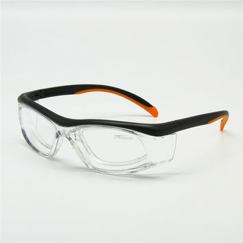 Sports Glasses with Detachable Rx Insert Safety Goggles Anti-Dust Anti-Static Lab Medical Use Working Eyewear