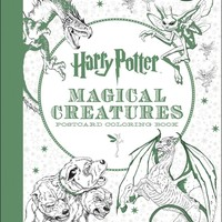Harry Potter Magical Creatures Postcard Coloring Book Harry Potter CLR