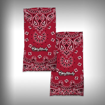 Monk Wrap Neck Gaiter / Face Shield - Bandana Red