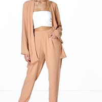 Maria Crepe Cropped Pocket Trouser