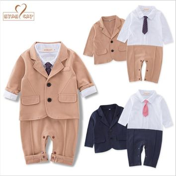 NYAN CAT Baby boy clothes gentlemen bow tie wedding set romper+jacket suit party birthday roupa infantil costume colthing