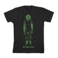 Ed Sheeran Black Drawn T-shirt