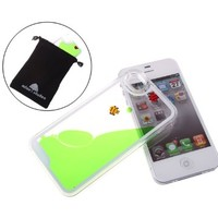 Nine States 3D Transparent Hard Plastic Floating Fish Couple Case for Apple iPhone 4 4s (Blue)