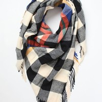 LA Hearts Plaid Blanket Scarf at PacSun.com