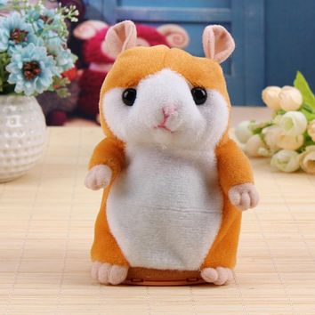 Talking Hamster Baby Plush Toy Sound Record Speak Talking Hamster Learn To Talk Kids Educational Stuffed Doll Xmas Gift