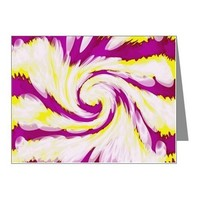 Groovy Purple Yellow Swirl A Note Cards (Pk of 20)