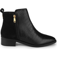 Sabre crocodile-embossed leather ankle boots