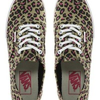 Vans Authentic Lo Pro Leopard Trainers at asos.com