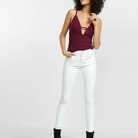 Express One Eleven Plunging Bar Front Cami from EXPRESS