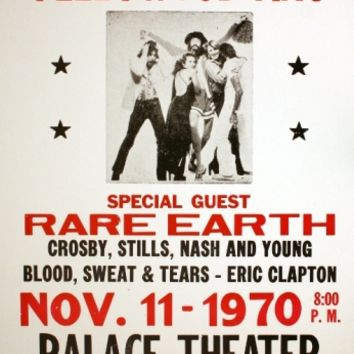 Fleetwood Mac - Palace Theater - November 11, 1970 (Poster) - Amoeba Music
