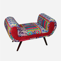 Fabric Wood Bench | Furniture