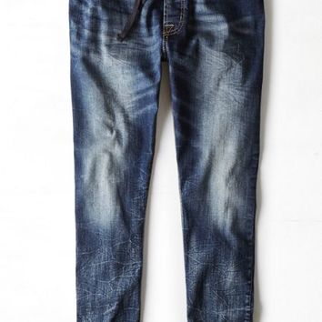 AEO Men's Active Flex Denim Jogger (Medium Crackle)
