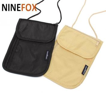 2017 Wallet  Security Under Clothes Neck Wallet Money Document Card Passport Pouch Holder Free Shipping  LOW PRICE