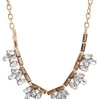 Gold Vintage-Inspired Rhinestone Choker Necklace by Charlotte Russe