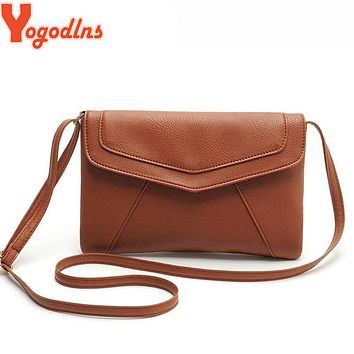 Yogodlns casual leather handbags new wedding clutches ladies party purse ofertas women crossbody messenger shoulder school bags