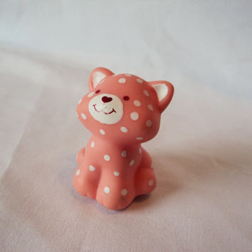 Strawberry Shortcake Custard Cat Pet Toy Vintage 1982