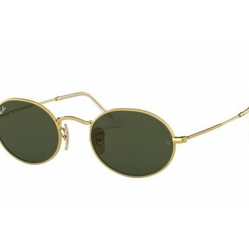 sunglasses Ray Ban oval RB3547 oro verde g15 001/31
