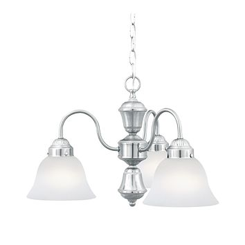 WHITMORE chandelier Brushed Nickel 3x100