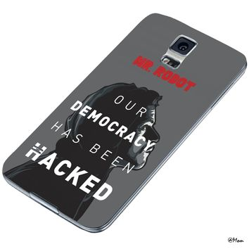 DCD - Mr. Robot Our Democracy Has Been Hacked Quotes Hacker Custom Case for Samsung Galaxy S4 S5 (Samsung Galaxy S5 white)
