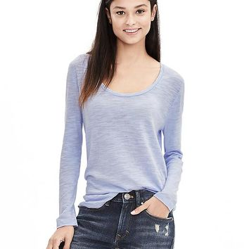 Banana Republic Womens Slubbed Scoop Neck Tee