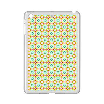 Aqua Mint Pattern Apple iPad Mini 2 Case (White)