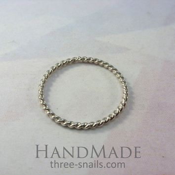 """Braided ring """"Wire"""""""