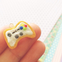 Super Cute Kawaii XBox White Controller Cookie Cell Phone Polymer Clay Charm