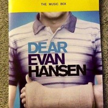 Dear Evan Hansen Playbill  - Ben Platt's Final Show