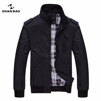 Men's casual black jacket simple British style plaid lining new fall 2017 men's business brochure designer aviator jacket 1235