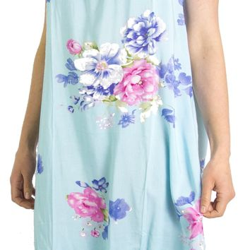 Sakkas Aila Women Summer Casual Short Sleeve Flowy Cover up Dress Floral Print