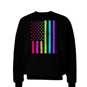 American Pride - Rainbow Flag Adult Dark Sweatshirt