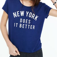 Express One Eleven Ny Better Graphic Pocket Tee from EXPRESS