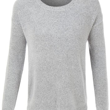 LE3NO Womens Ultra Soft Round Neck Long Sleeve Knit Pullover Sweater