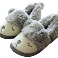 Cartoon Sheep Indoor Flat Slip-On Slipper