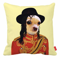 Michael Jackson Pillow Cover Chihuahua Chair Cushion Covers Toss Pillows Accent Pillows For Sofa 18x18