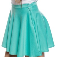 Twist and Twirl Mini Skater Skirt - Mint