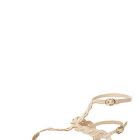 Subrina 32 Beige Braided Ankle Strap Thong Sandals