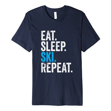 Eat Sleep Ski Repeat Snow Skiing Sport T-Shirt