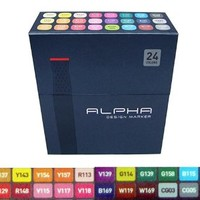Alpha EF 24 R Grafikmarker 24er Set Box Design Marker