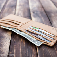 Wallet for mens billfold wallet slim wallet credit card wallet natural genuine leather wallet minimal wallet leather card holder travel gift