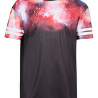 GALACTIC MESH PRINT T-SHIRT - Men's T-shirts & Tanks - Clothing