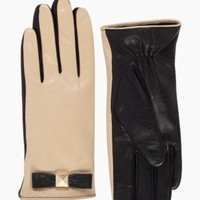 pyramid bow leather glove - kate spade new york