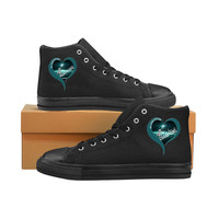 I love Philadelphia Eagles High Top Shoes Midnight Green Black| Super Bowl Champs Shoes For Men Women kids