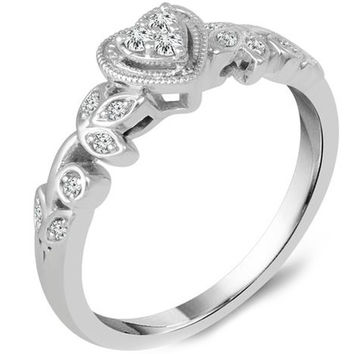 Ben Garelick Heart Shape Diamond Promise Ring