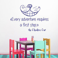 Wall Decals Vinyl Decal Sticker The Cheshire Cat Quote Art Nursery Decor KG850