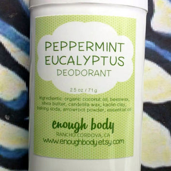 Peppermint Eucalyptus Natural Deodorant Stick