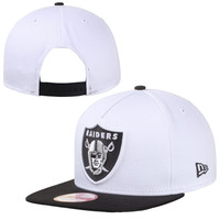 Oakland Raiders New Era 9FIFTY Tropicus A-Frame Snapback Hat - White