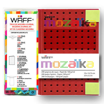 WAFF MOZAIKA COMBO MEDIUM RED JOURNAL
